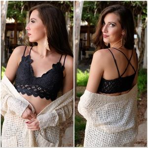 Infinity Raine Intimates & Sleepwear - RESTOCKED✨Lace Bralette with padding-BLACK